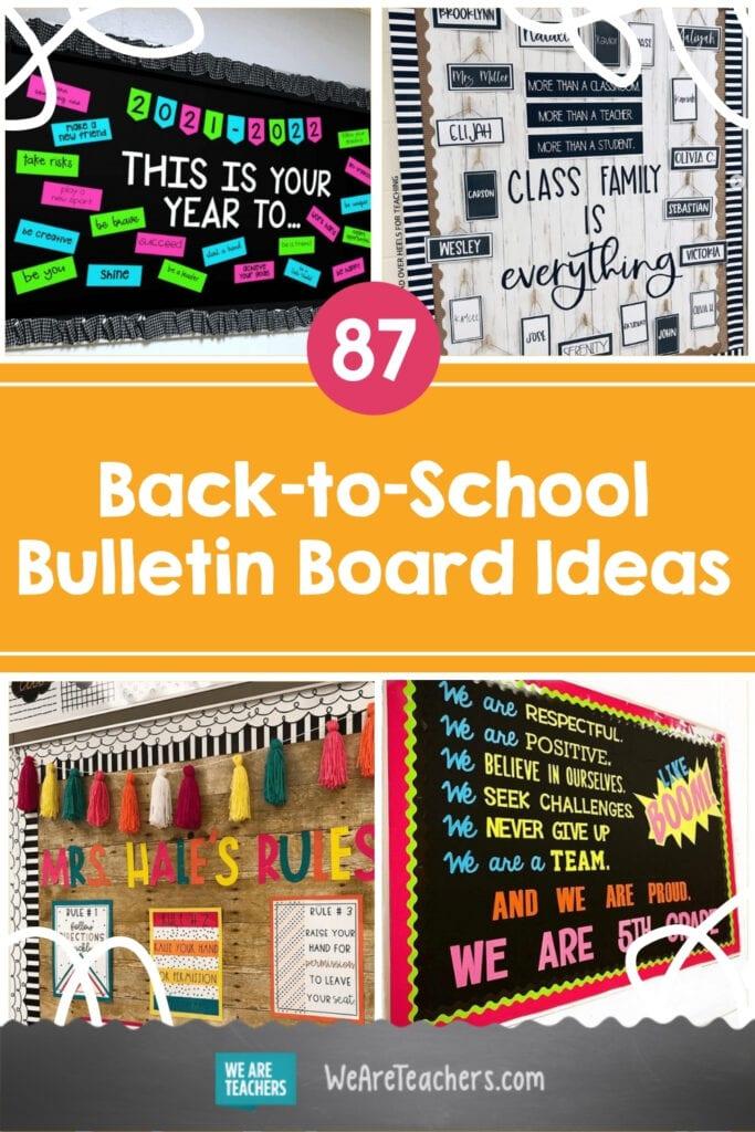 90 Back-to-School Bulletin Board Ideas from Creative Teachers