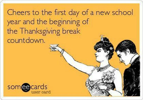Teacher Meme Thanksgiving Break
