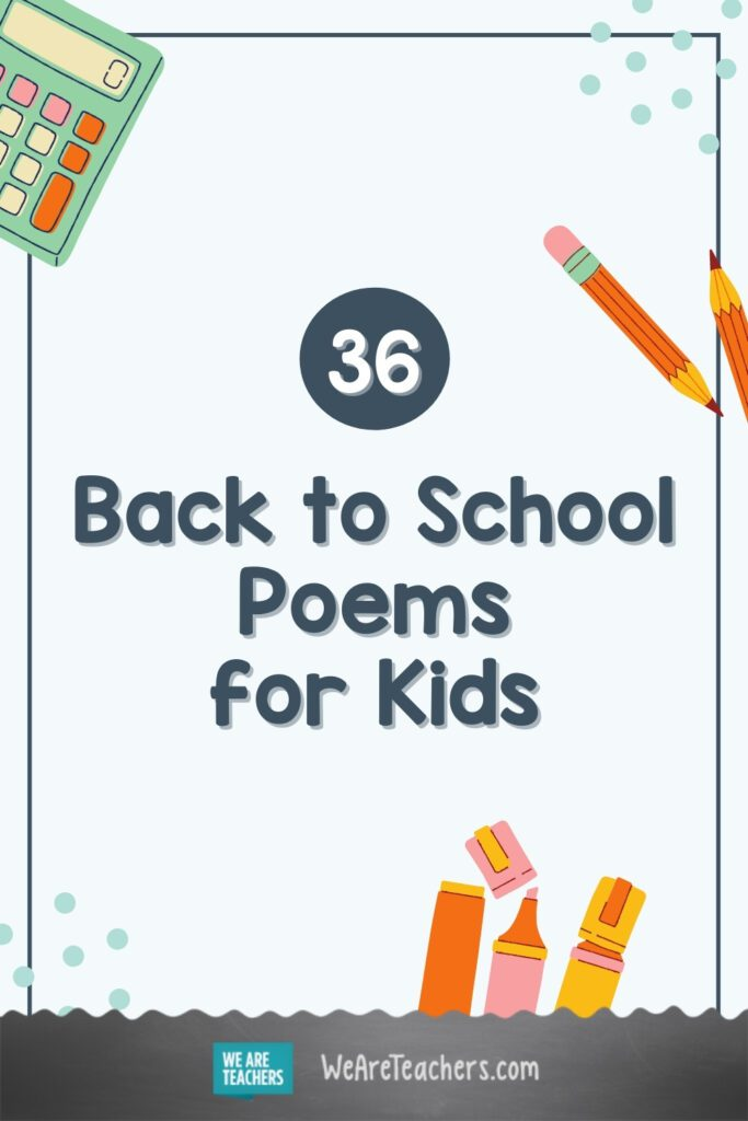 36 Back to School Poems for Every Student