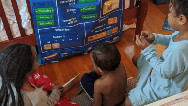 Balancing Online Teaching Parenthood