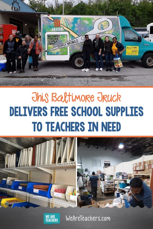 This Baltimore Truck Delivers Free School Supplies to Teachers in Need