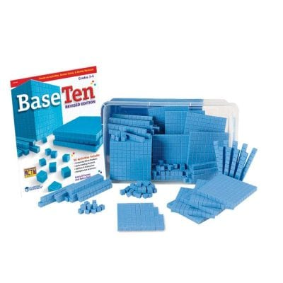 BaseTen blue learning blocks.