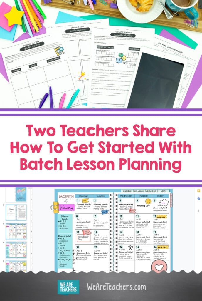 Two Teachers Share How To Get Started With Batch Lesson Planning