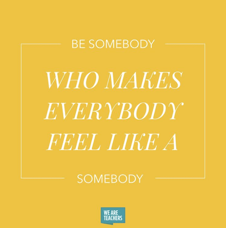 Be that somebody