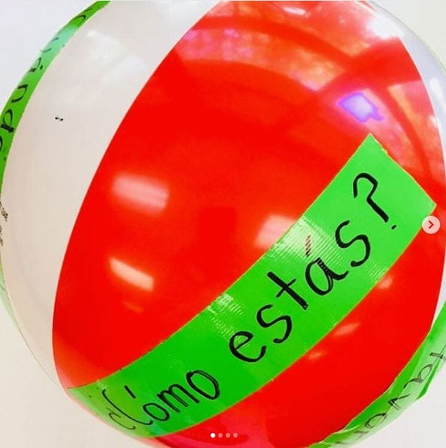 Beach Ball Games Fun for Spanish Teachers IG