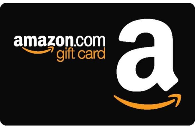 Amazon gift card -- end of year teacher gifts