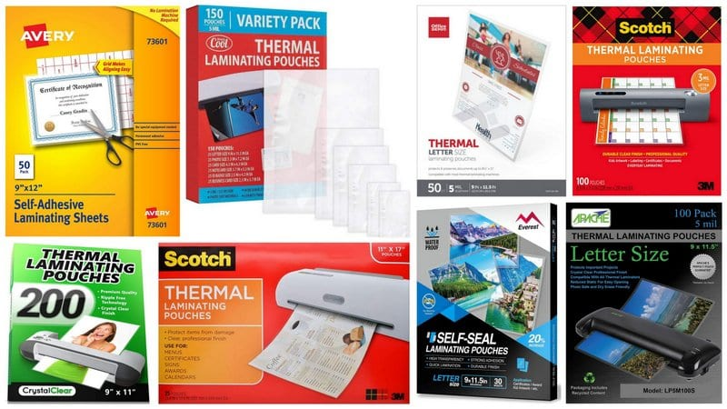 Collage of Best Laminating Pouches