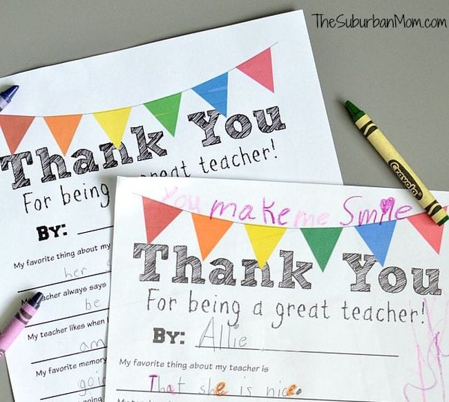 Best Teacher Gifts Suburban Mom