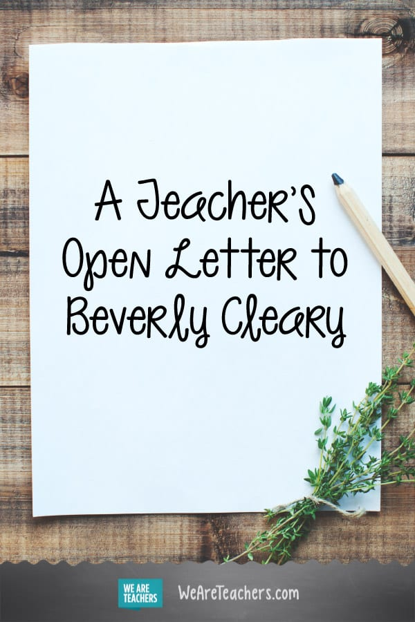 Dear Beverly Cleary