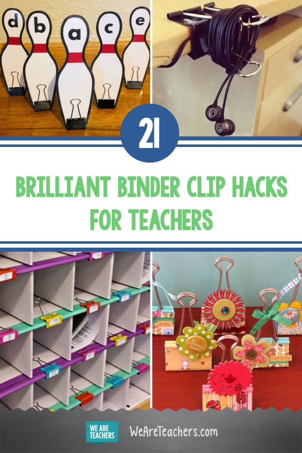 21 Brilliant Binder Clip Hacks All Teachers Need to Try