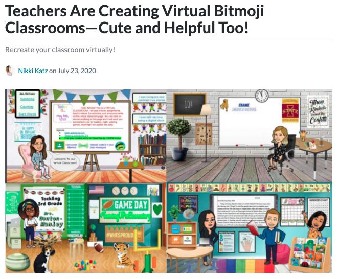 Bitmoji classroom header image.