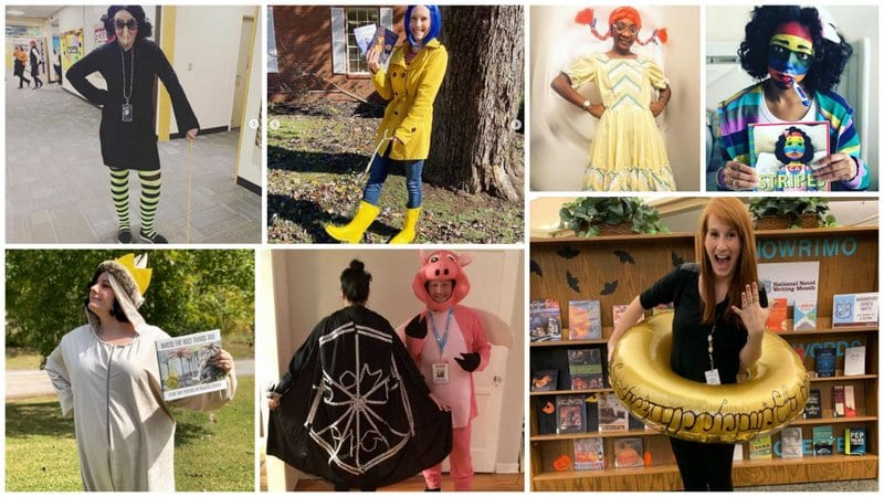 Collage of Book Character Costume Ideas