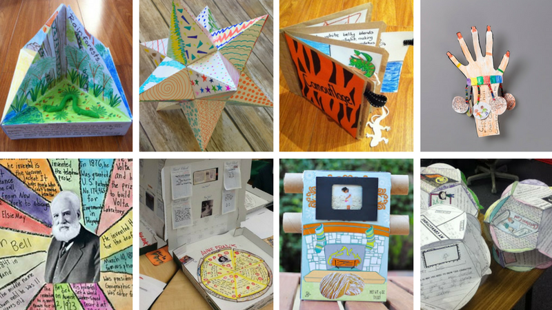 Book Cover Ideas Projects : Book report project ideas for every grade and subject