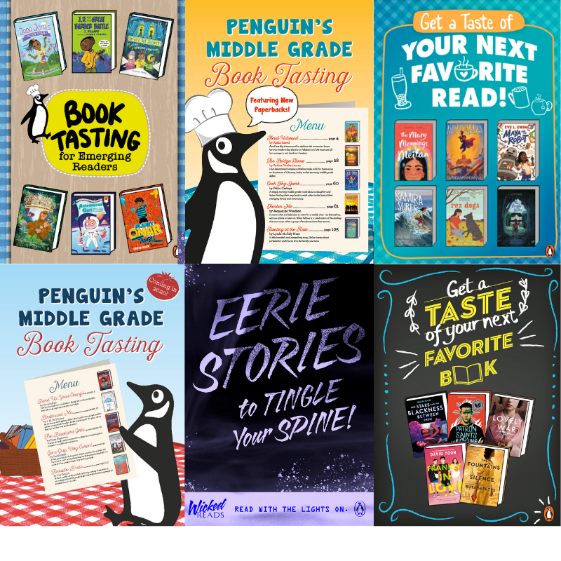 Sampling of the Penguin Young Reader book tasting covers