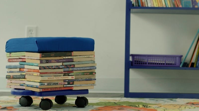 Make a DIY Book Stool