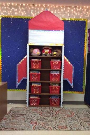 Space themed classroom ideas weareteachers for Outer space decor