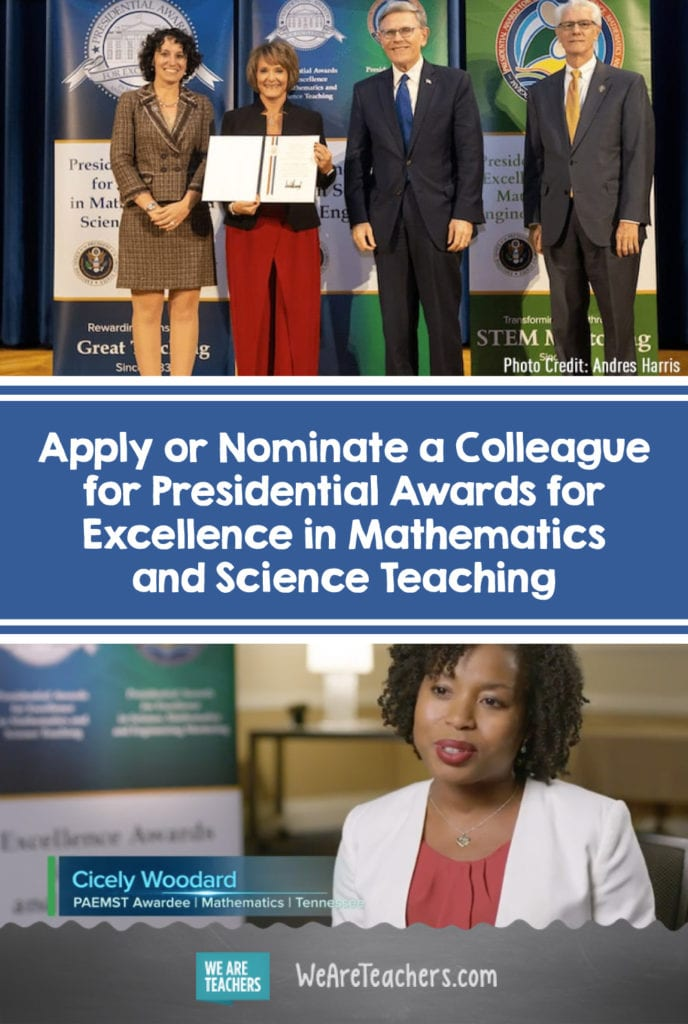 Apply or Nominate a Colleague for Presidential Awards for Excellence in Mathematics and Science Teaching