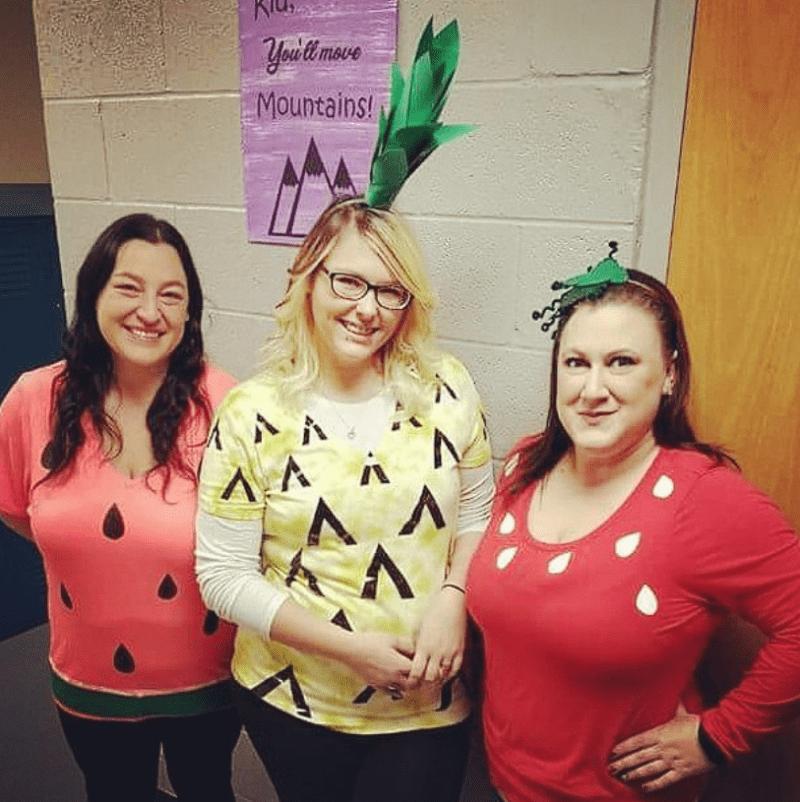 Teachers Costume as Bowl of Fruit