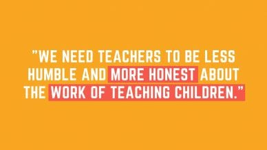 brag about teaching