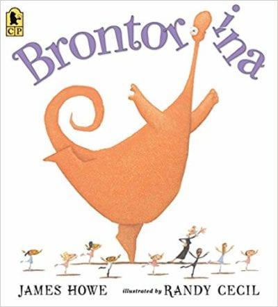 Book cover for Brontorina as an example of dinosaur books for kids