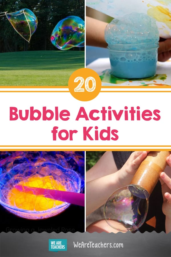 Paint with Bubbles + 20 More Cool Bubble Activities to Try