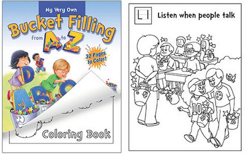 Bucket Fillers A-Z coloring book