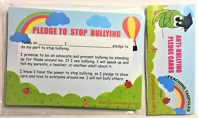 Bullying Posters Pledge Card