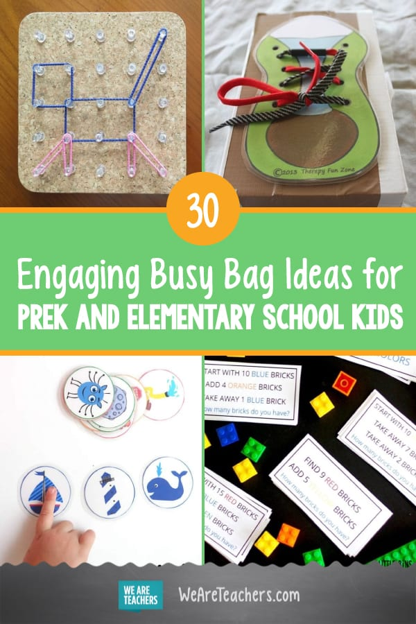 30 Engaging Busy Bag Ideas for PreK and Elementary School Kids