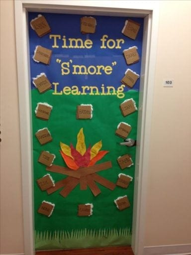 Camping Classroom Door Decoration ~ Great ideas for a camping classroom theme weareteachers