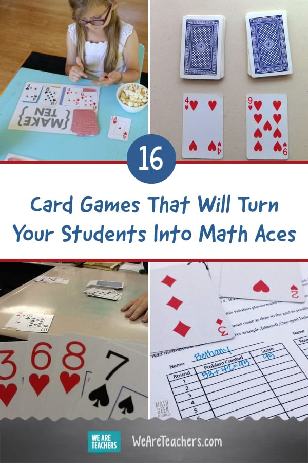 16 Card Games That Will Turn Your Students Into Math Aces
