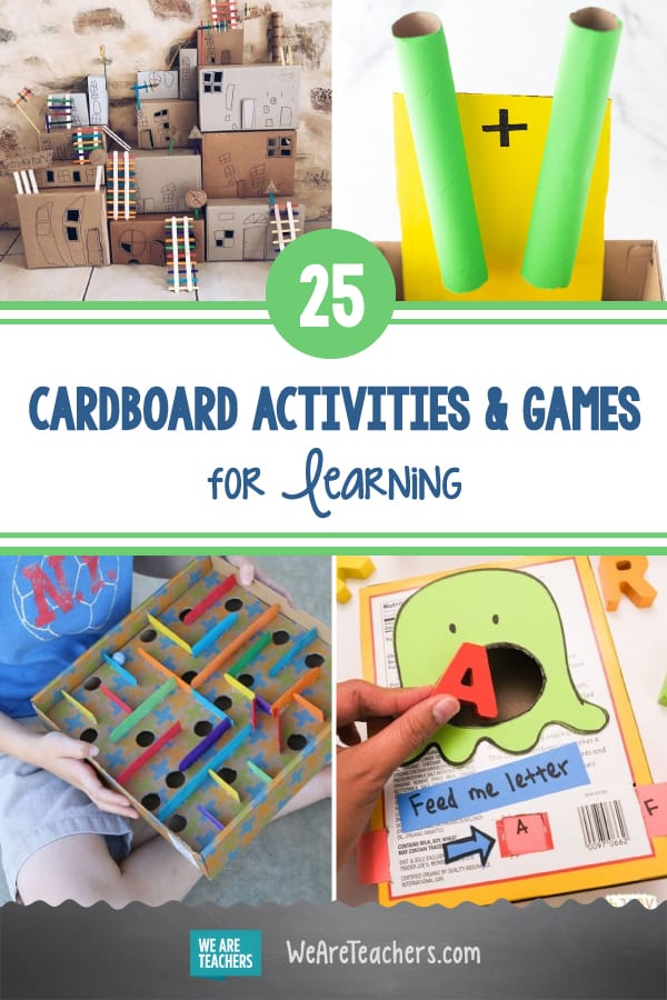 25 Inventive Cardboard Activities and Games for Learning