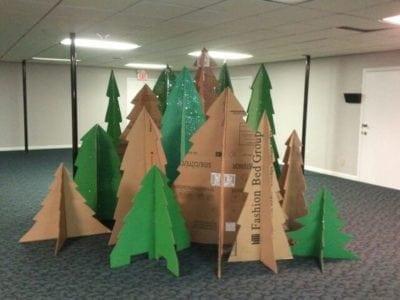 Classroom camping themes cardboard tree cutouts