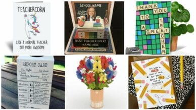 Collage of Best Greeting Cards for Teachers