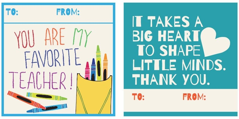 image relating to Thank You Teacher Free Printable known as Printable Trainer Thank By yourself Playing cards for Instructor Appreciation