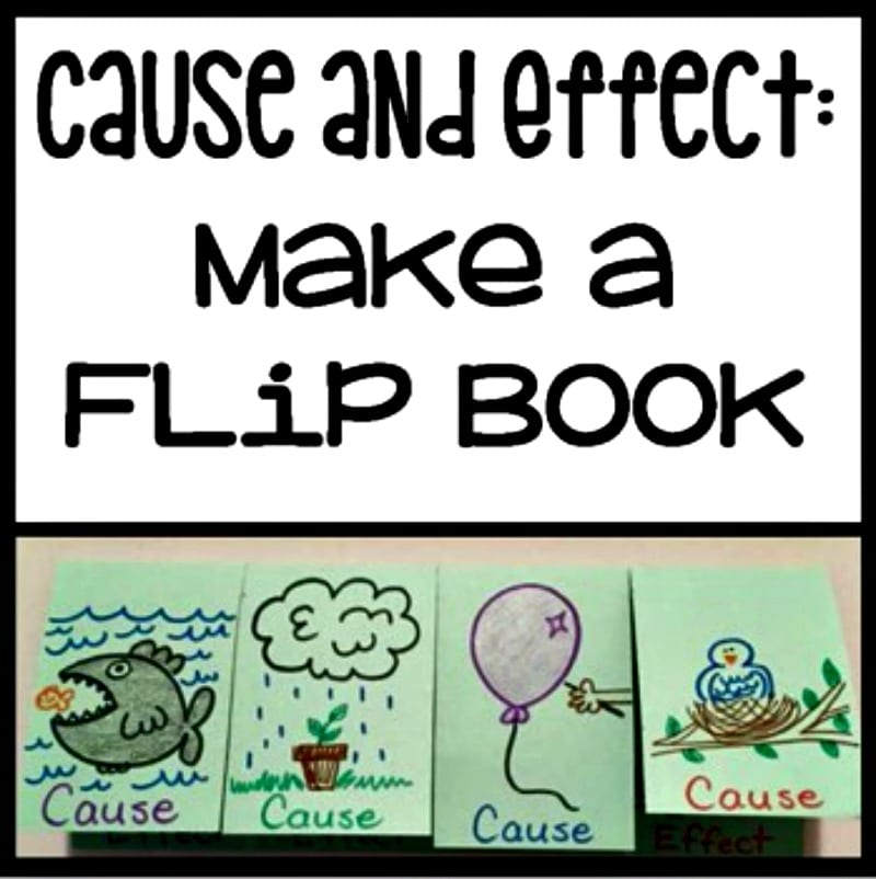 Cause and effect flip book paper examples