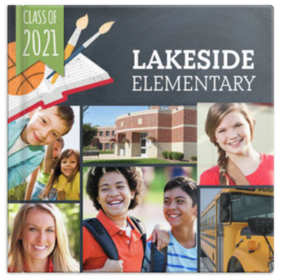 Lakeside elementary yearbook cover image