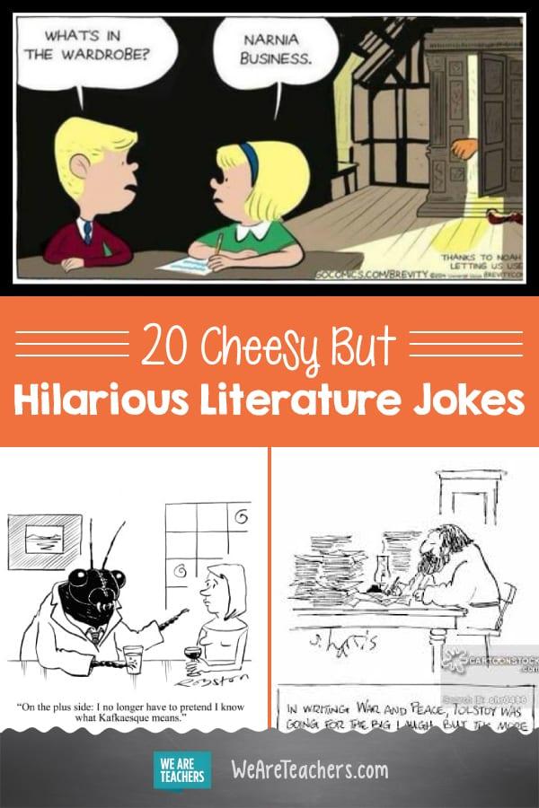 20 Cheesy But Hilarious Literature Jokes