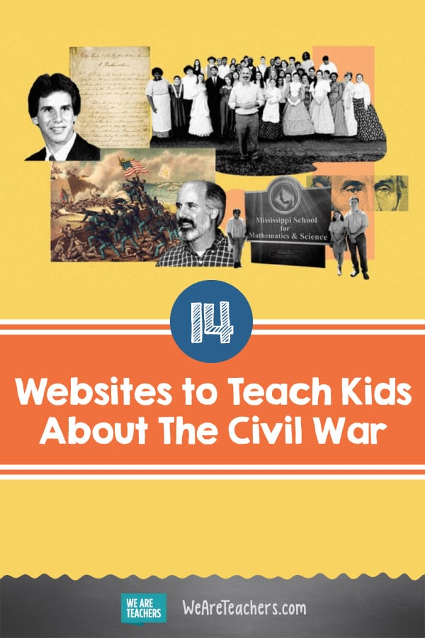 14 Websites to Teach Kids About The Civil War