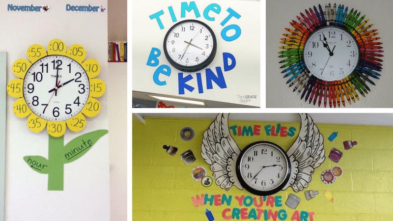 Classroom Clock Decor And Upgrade Ideas Weareteacehrs