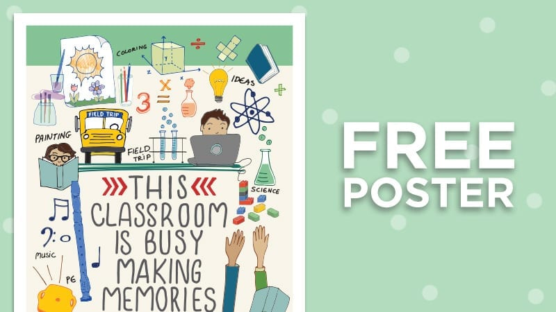 Free Poster - Classroom poster with text: