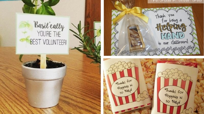 Classroom Volunteer Appreciation Gifts - 12 Ideas