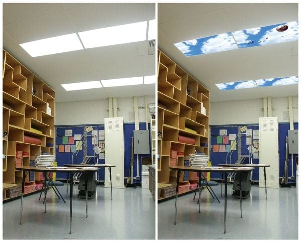 Classroom without windows Sky Panels