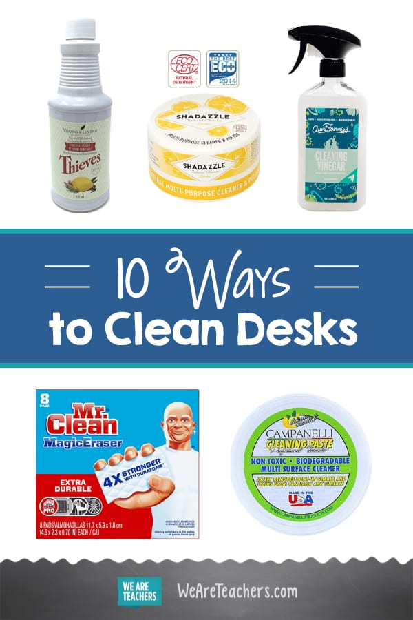 10 Ways to Clean Scribbled-On, Germ-Ridden, Chewed-Gum Desks