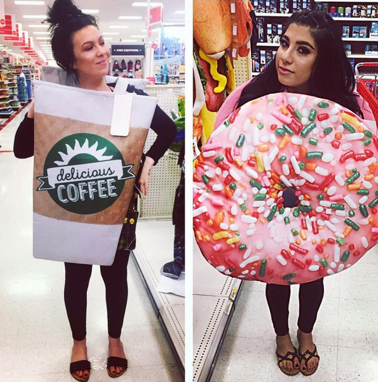 Coffee and Donut Halloween teacher costume
