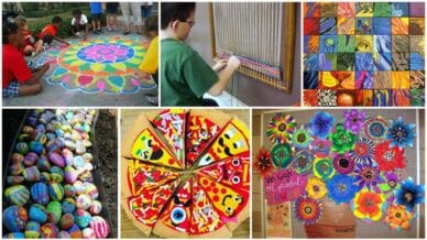 Collage of Collaborative Art Projects