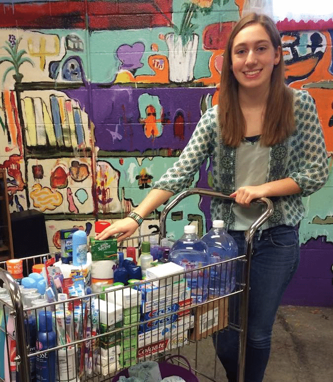 Student toiletry drive