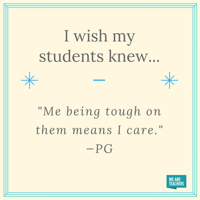 I Wish My Students Knew