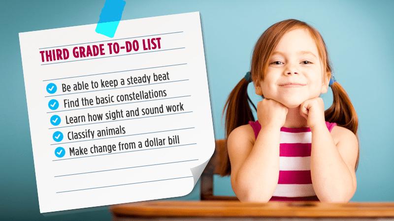 Third grade to-do list