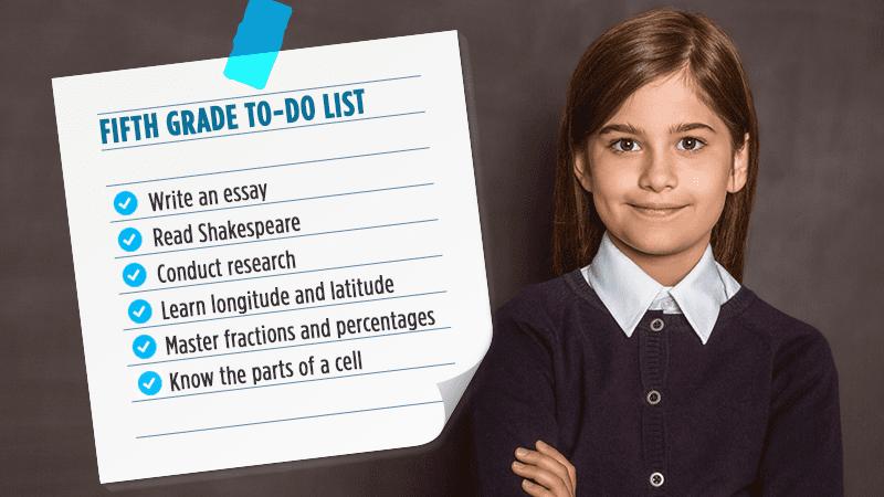 Fifth grade to do list