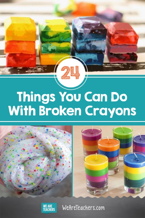 24 Unbelievable Things You Can Do With Broken Crayons